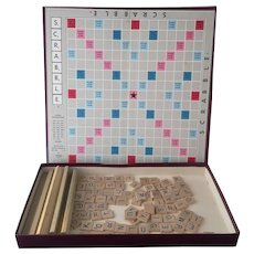 Vintage Early Scrabble board game