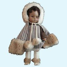 Vintage 1970s Horsman Sofskin black Girl doll