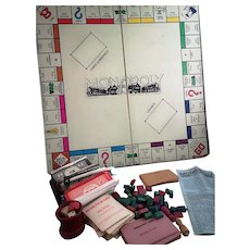 Vintage 1930's Monopoly game, pre pat