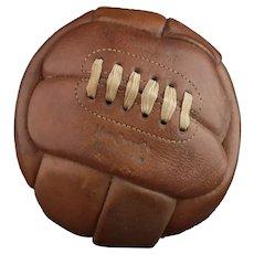 Vintage leather football, Mark Cross