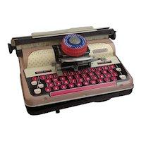 Vintage tinplate typewriter toy, Mettoy 1950s