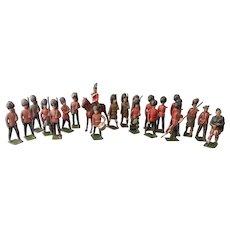 Vintage lead soldiers, Highlanders, Britains