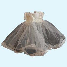 Vintage tulle dolls petticoat, Teddy bear dress