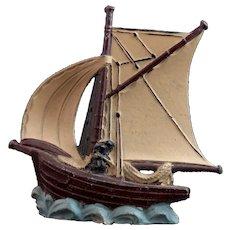 Vintage lead Galleon ship, toy boat