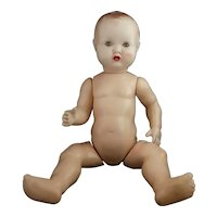 Vintage 1940s Hard plastic baby doll, BND