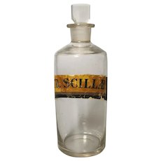 Antique Victorian apothecary bottle, glass