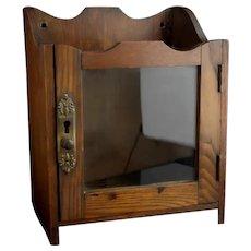 Antique Edwardian oak smokers cabinet