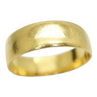 1902 Antique 22Ct Gold 5mm Wedding Band Ring, Size J, 2.5g