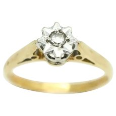 Vintage 18Ct Yellow Gold Solitaire Diamond Engagement Ring, Size L 1/2
