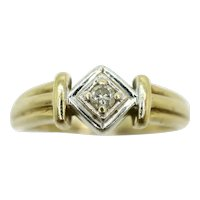 Stunning 9ct Gold Solitaire Diamond Engagement Ring, Size N