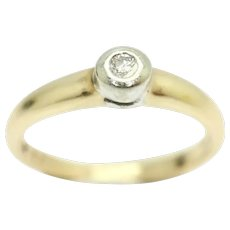 Stunning 9ct Gold Solitaire Diamond Engagement Ring, Size M 1/2