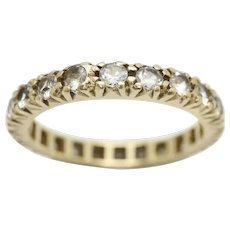 Vintage 9ct Yellow Gold Full Eternity Spinel Wedding Band Ring, Size M