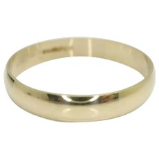 Vintage 9Ct Gold 4mm Wedding Band Ring, Size X 1/2, Inscribed 'I LOVE YOU'