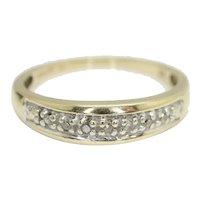 Vintage 9ct Gold Diamond Half Eternity Wedding Band Ring, Size N 1/2
