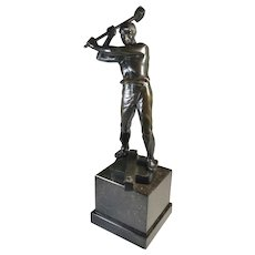 Steel Worker Social Realism Sculpture