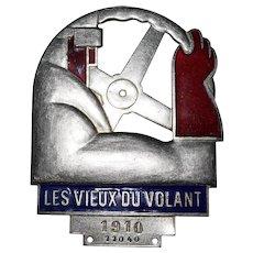 Cubist Art Deco Automobile Club Dashboard Badge Plaque France
