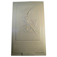 Aviation Award trophy Plaque Wings For Victory