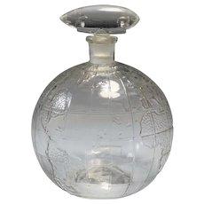 Zeppelin over Globe Perfume Bottle