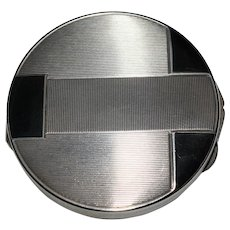 Art Deco Silver & Enamel Compact