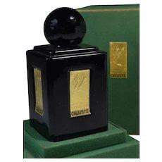 Art Deco Black Perfume Bottle Egyptian Labels Calliste France