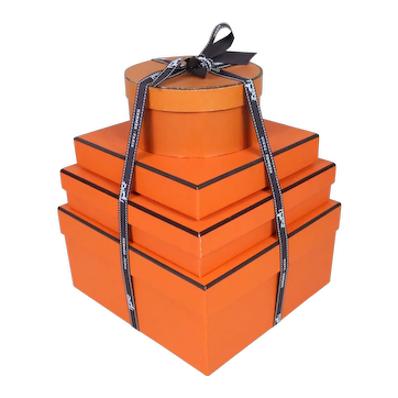 Stack of Four Vintage Hermes Boxes
