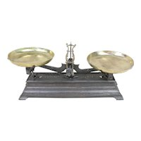 19th Century French Cast Iron Balance Scale