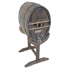 French Cognac Barrel on Stand