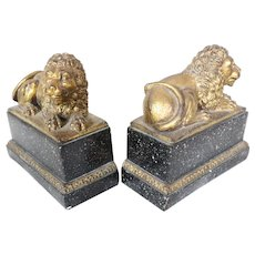 Pair of Lion Bookends