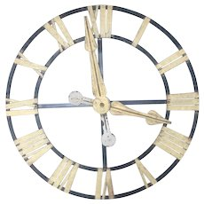 19th Century Belgian Tower Clock Face