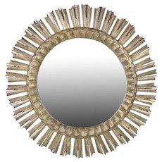 Carved Wooden Sunburst Mirror