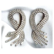 DIVA Crystal Round and Baguette Earrings - Unbelievable & Huge
