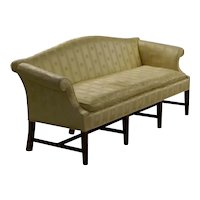 Fine quality Chippendale style Camel Back Sofa with Mahogany frame.