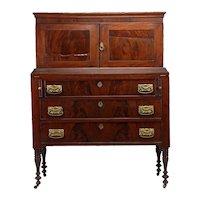Wonderful Sheraton slant lid mahogany Secretary Desk