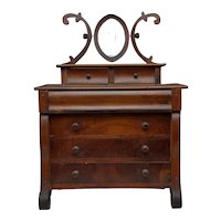 Exceptional Mahogany Salesman Sample or Child's Empire Chest of Drawers