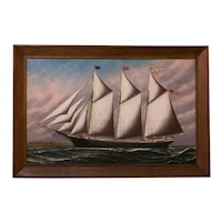 Fine S.F.M. Badger Ship Painting Of The Daisy Farlin.