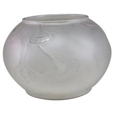 """R. Lalique """"""""Du Barry"""" Frosted Molded Bowl"""