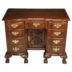 Fine Quality Chippendale Centennial Mahogany Knee Hole Desk