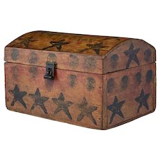 Delightful Painted Pine Dome Top Box