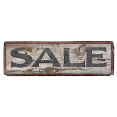 """Sale"" Trade Sign on Board"