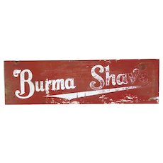 "Dramatic Two Sided Trade Sign ""Burma Shave"""