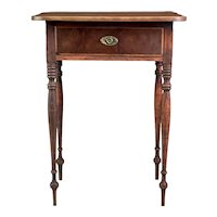 A Rare & Exceptional Delicate High Country Sheraton 1-Drawer Birch Stand