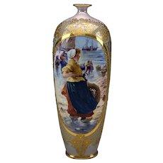 Impressive Royal Vienna Pictoral Vase.