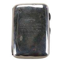 Rare Sterling Football Presentation Cigarette Case Dated 1905.