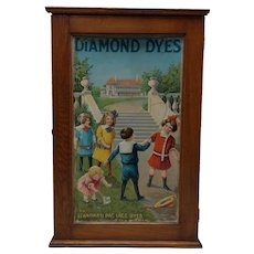 Wonderful and Colorful Antique Diamond Dye Cabinet