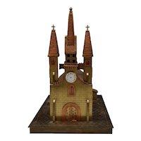 Ornamental FiguralI Illuminated Clock Made Of Brass & Copper.