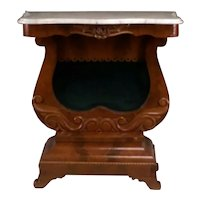 A Classical Revival Mahogany Marble Top Pier Table