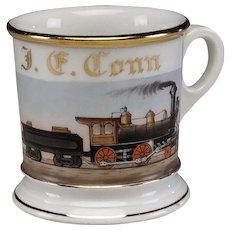 Train Theme Haviland Limoges Occupational Shaving Mug
