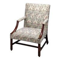 George III Mahogany Library Arm Chair
