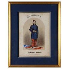 "Nice Rare Civil War Era Sheet Music Titled, ""Col. Ellsworth's Funeral March"""