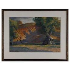 Figures in a Wooded Landscape, Albert Sheldon Pennoyer (American, 1888-1957)